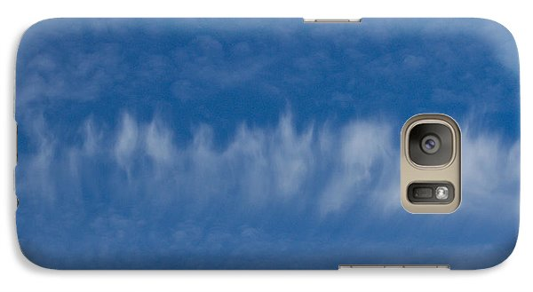 Galaxy Case featuring the photograph A Batch Of Interesting Clouds In A Blue Sky by Eti Reid