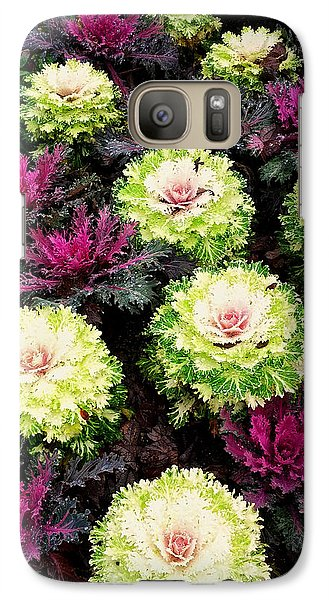 Galaxy Case featuring the photograph A Bed Of Color by Kelly Reber