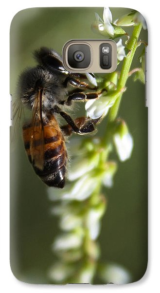 Galaxy Case featuring the photograph A Bee About His Business by Richard Stephen