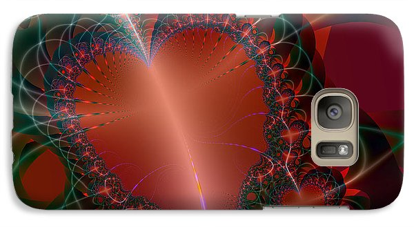 Galaxy Case featuring the digital art A Big Heart by Ester  Rogers