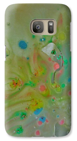 Galaxy Case featuring the photograph A Bird In Flight by Robin Coaker