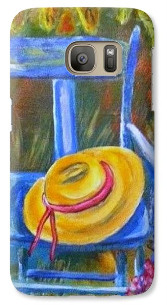 Galaxy Case featuring the painting A Blue Chair by Belinda Lawson