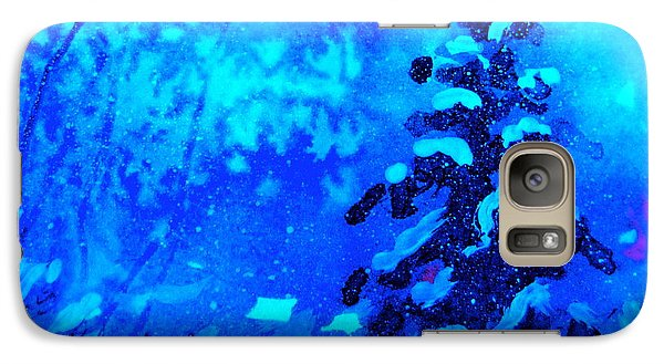 Galaxy Case featuring the painting A Blue Christmas by Gretchen Allen