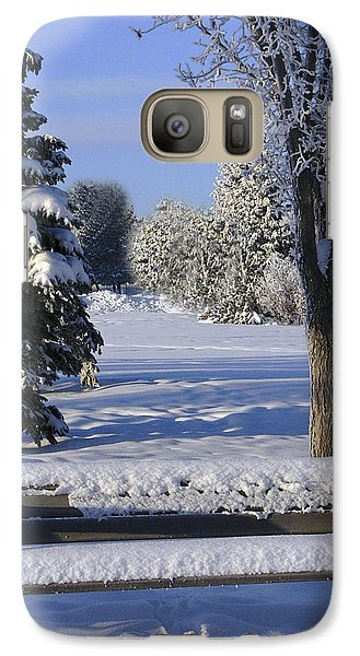 Galaxy Case featuring the photograph A Blue Christmas Without You by Rhonda McDougall