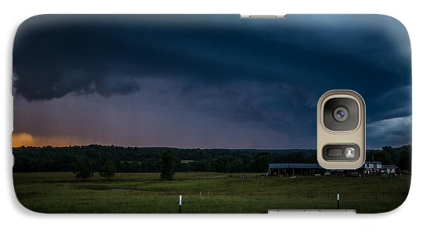 Galaxy Case featuring the photograph A Brewing Storm by Julie Clements