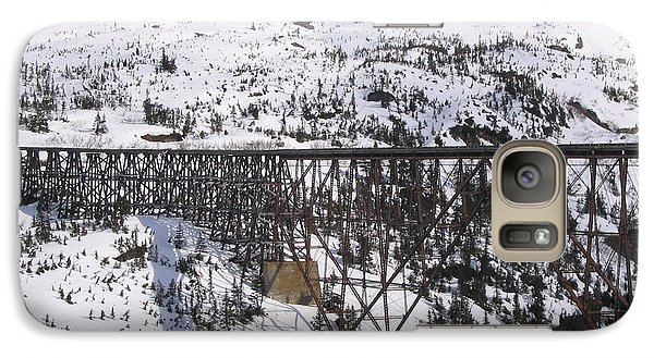 Galaxy Case featuring the photograph A Bridge In Alaska by Brian Williamson