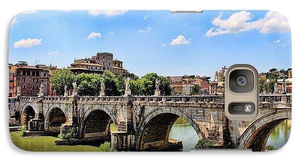 Galaxy Case featuring the photograph A Bridge In Rome by Oscar Alvarez Jr