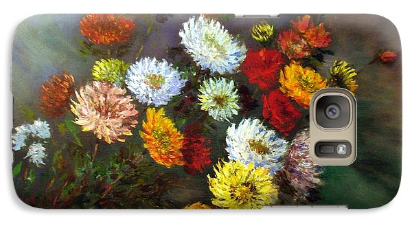 Galaxy Case featuring the painting A Bunch Of Flowers by Laila Awad Jamaleldin