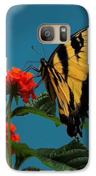 Galaxy Case featuring the photograph A Butterfly by Raymond Salani III