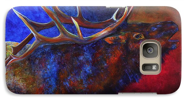 Galaxy Case featuring the painting A Call In The Night by Jennifer Godshalk
