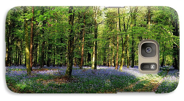 Galaxy Case featuring the photograph A Carpet Of Colour by Wendy Wilton