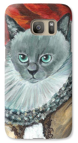 Galaxy Case featuring the painting A Cat Of Peter Paul Rubens Style by Jingfen Hwu
