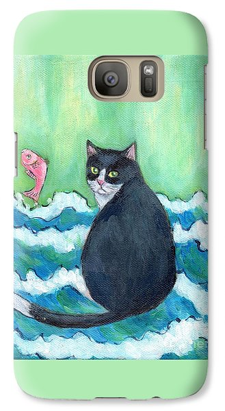 Galaxy Case featuring the painting A Cat's Dream Interior Design by Jingfen Hwu