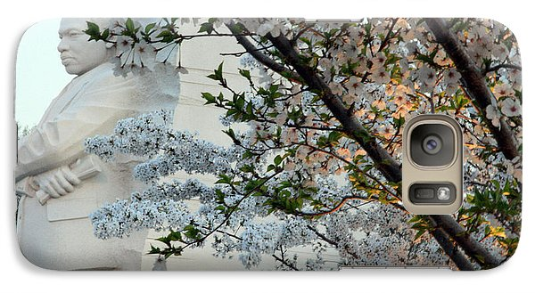 Galaxy Case featuring the photograph A Cherry Blossomed Martin Luther King by Cora Wandel