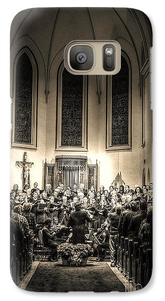 Galaxy Case featuring the photograph A Christmas Choir by Maddalena McDonald