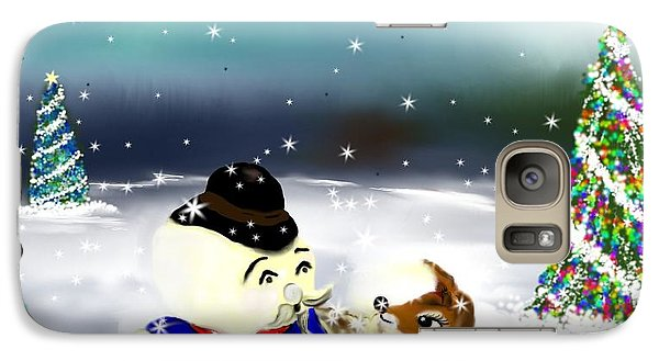 Galaxy Case featuring the painting A Christmas Night by Lori  Lovetere