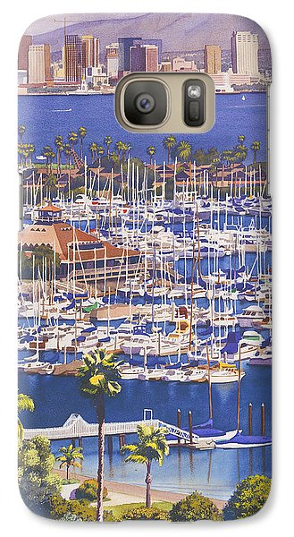 City Scenes Galaxy S7 Case - A Clear Day In San Diego by Mary Helmreich