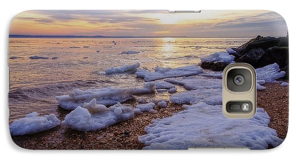 Galaxy Case featuring the photograph A Cold Sandy Hook Winter by Debra Fedchin