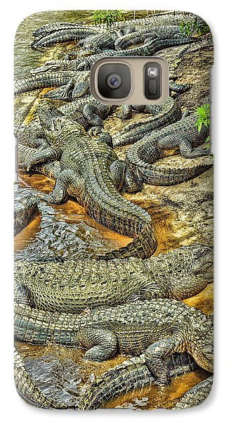 A Congregation Of Alligators Galaxy S7 Case by Rona Schwarz