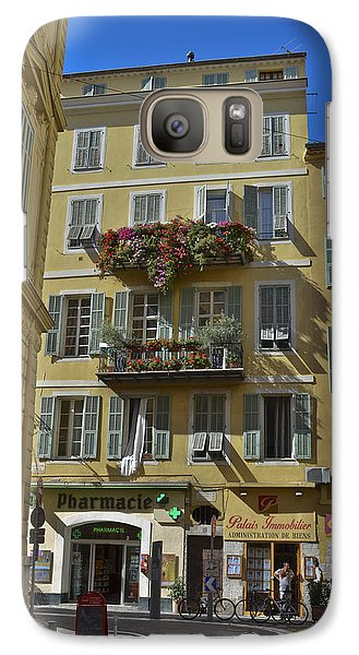 Galaxy Case featuring the photograph A Corner In Nice by Allen Sheffield