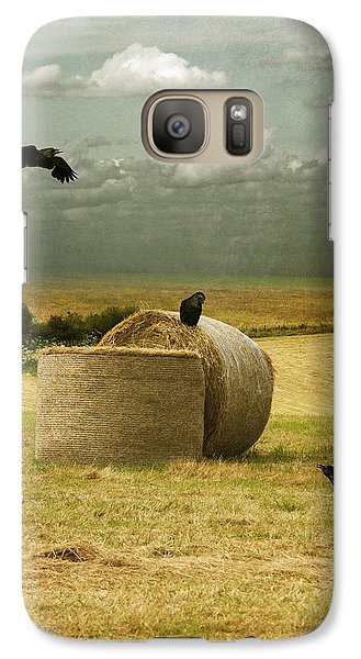 Galaxy Case featuring the photograph A Counrty Hay Field by Ethiriel  Photography