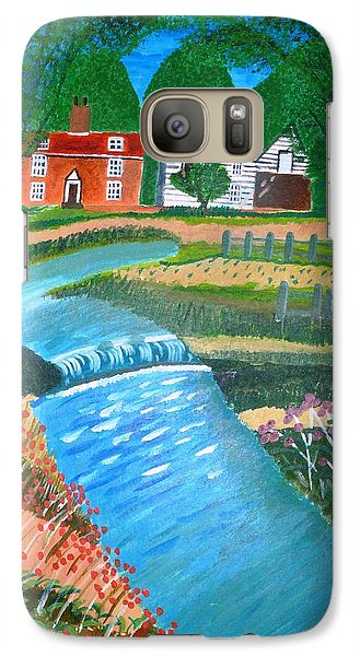 Galaxy Case featuring the painting A Country Stream by Magdalena Frohnsdorff