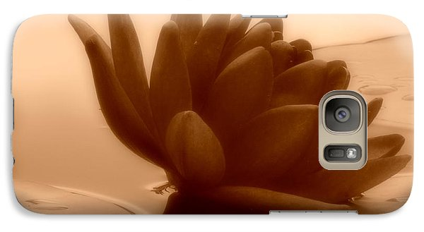 Galaxy Case featuring the photograph A Dark Water Lily by Chad and Stacey Hall
