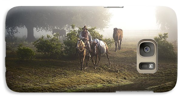 Galaxy Case featuring the photograph A Day At Dry Creek by Linda Constant