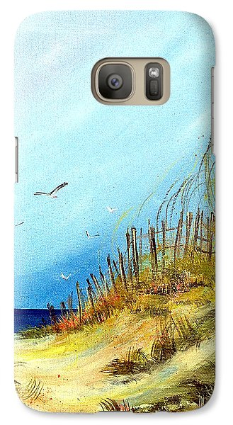 Galaxy Case featuring the painting A Day At The Ocean by Dorothy Maier
