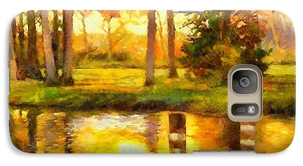 Galaxy Case featuring the painting A Day At The Pond by Elizabeth Coats