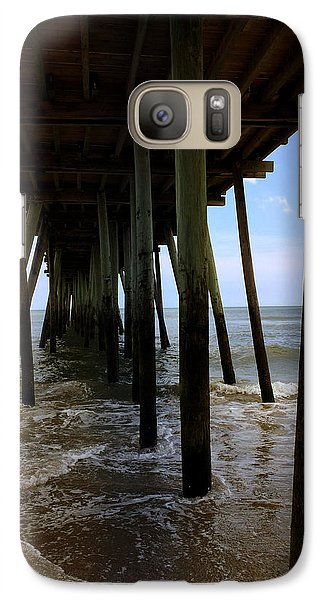 Galaxy Case featuring the pyrography A Day At Virginia Beach by Rebecca Davis