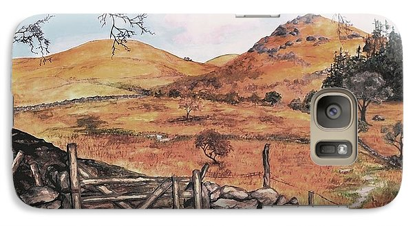 Galaxy Case featuring the painting A Day In The Country by Sophia Schmierer