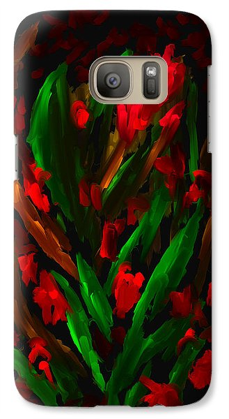 Galaxy Case featuring the painting A Day Of Red by Steven Lebron Langston