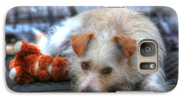 Galaxy Case featuring the photograph A Dog And His Best Friend by Kevin Ashley