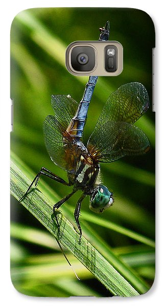 Galaxy Case featuring the photograph A Dragonfly by Raymond Salani III
