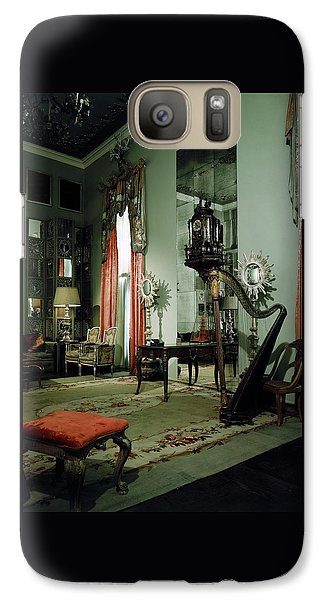 Beverly Hills Galaxy S7 Case - A Drawing Room by Shirley C. Burden