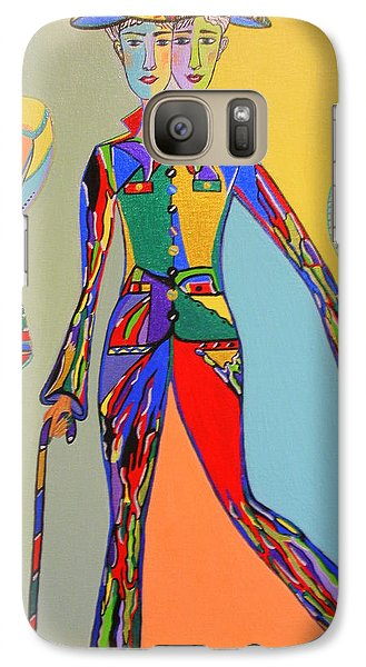 Galaxy Case featuring the painting Men's Fantasy by Marie Schwarzer