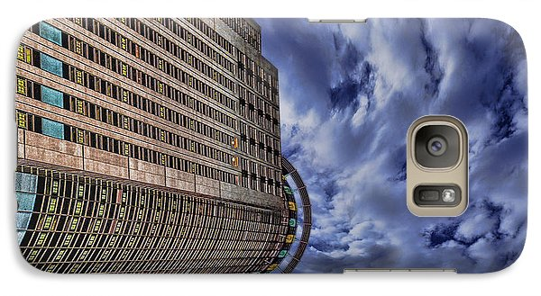 Galaxy Case featuring the photograph A Drifting Skyscraper by Ron Shoshani