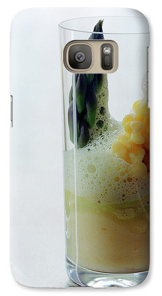 A Drink With Asparagus Galaxy Case by Romulo Yanes