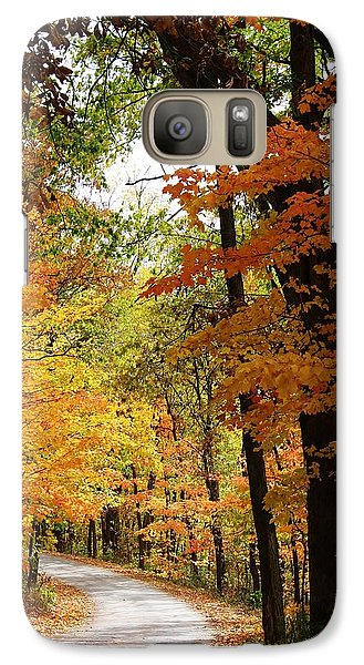 Galaxy Case featuring the photograph A Drive Through The Woods by Bruce Bley