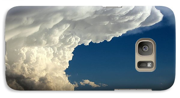 Galaxy Case featuring the photograph A Face In The Clouds by Barbara Chichester