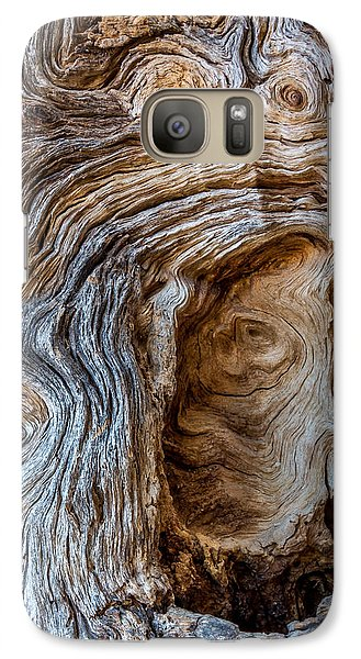 Galaxy Case featuring the photograph A Face In The Wood by Beverly Parks