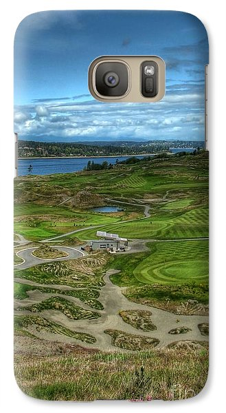 Galaxy Case featuring the photograph A Fairway To Heaven - Chambers Bay Golf Course by Chris Anderson