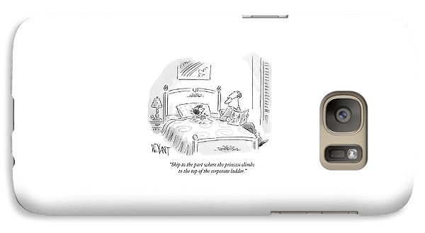 A Father Reads His Daughter A Bedtime Story Galaxy S7 Case