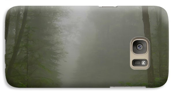 Galaxy Case featuring the photograph A Few Steps Into The Mist by Don Schwartz