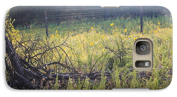 Galaxy Case featuring the photograph A Field All A Glow by Alicia Knust