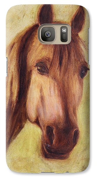 Galaxy Case featuring the painting A Fine Horse by Xueling Zou