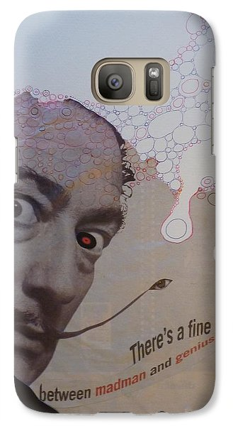 Galaxy Case featuring the mixed media A Fine Line by Douglas Fromm