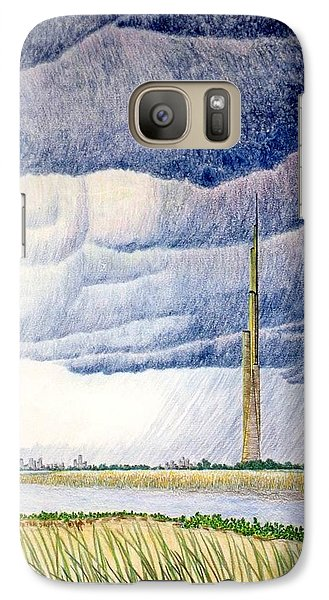 Galaxy Case featuring the painting A Finger To The Sky by A  Robert Malcom