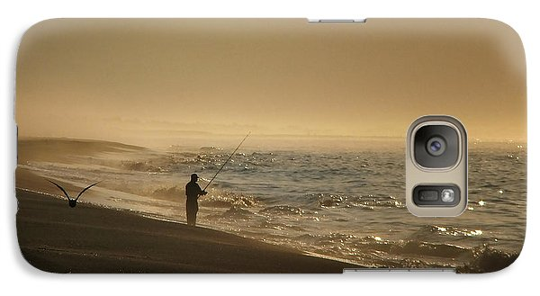 Galaxy Case featuring the photograph A Fisherman's Morning by GJ Blackman